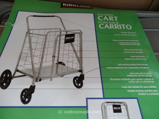 Kirkland Signature Folding Shopping Cart Costco 4