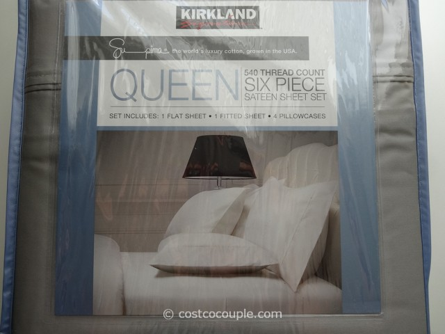 Kirkland Signature Queen Sheet Set Costco 3