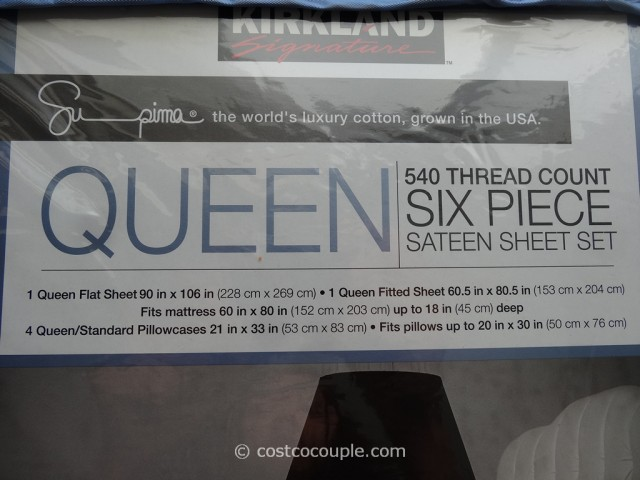 Kirkland Signature Queen Sheet Set Costco 4