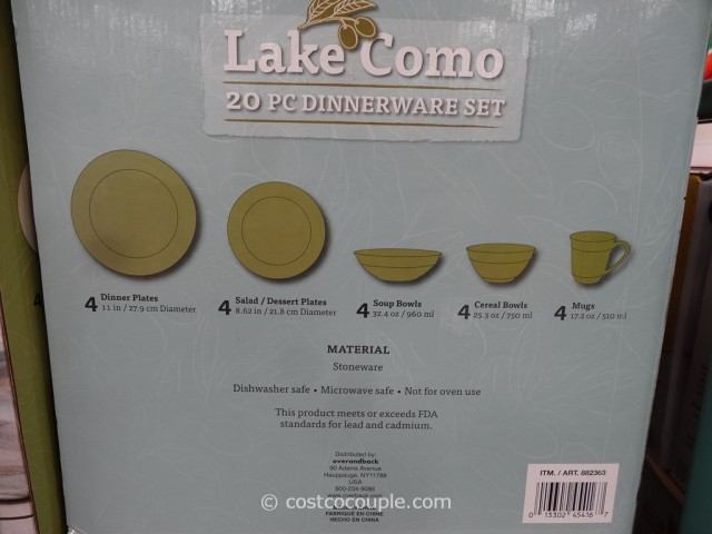 Lake Como Dinnerware Set Costco 2
