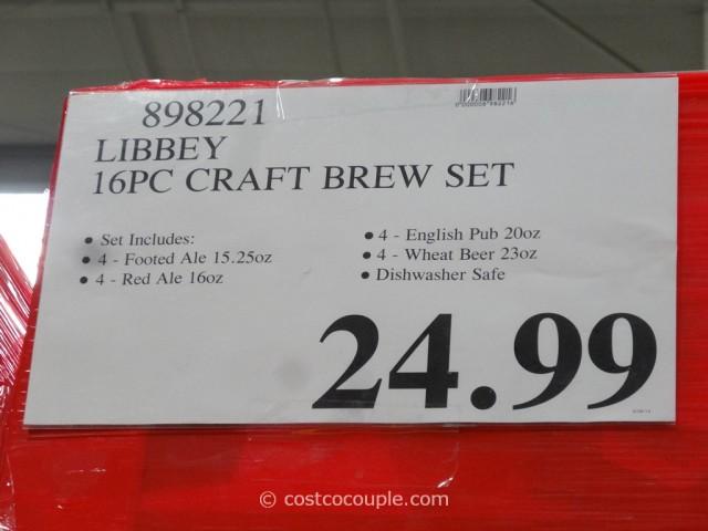 Libbey 16-Piece Craft Brew Set Costco 1