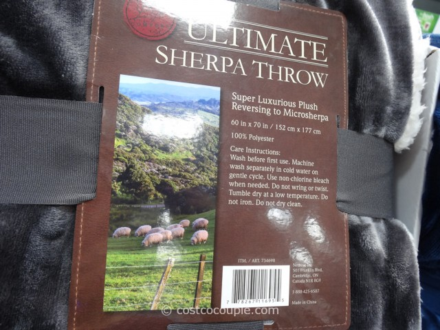 Life Comfort Ultimate Sherpa Throw Costco 12