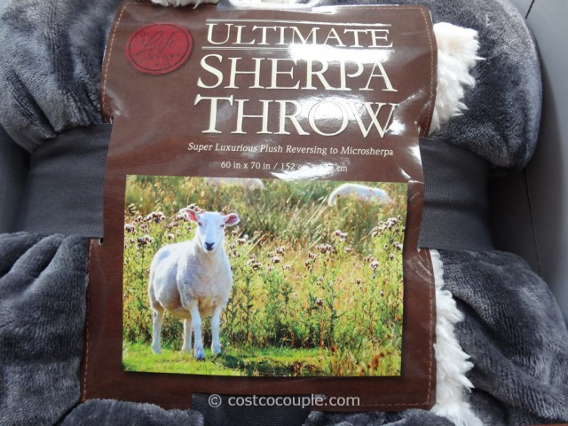 Life Comfort Ultimate Sherpa Throw Costco 8