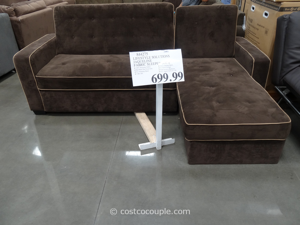 Lifestyle Solutions Jaqueline Fabric Sleeper Sofa Costco 1