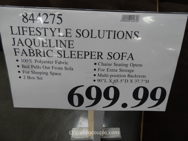 Lifestyle Solutions Jaqueline Fabric Sleeper Sofa Costco 4