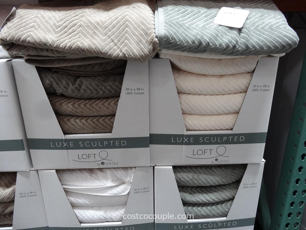 Loft Luxe Sculpted Bath Towel Costco 4