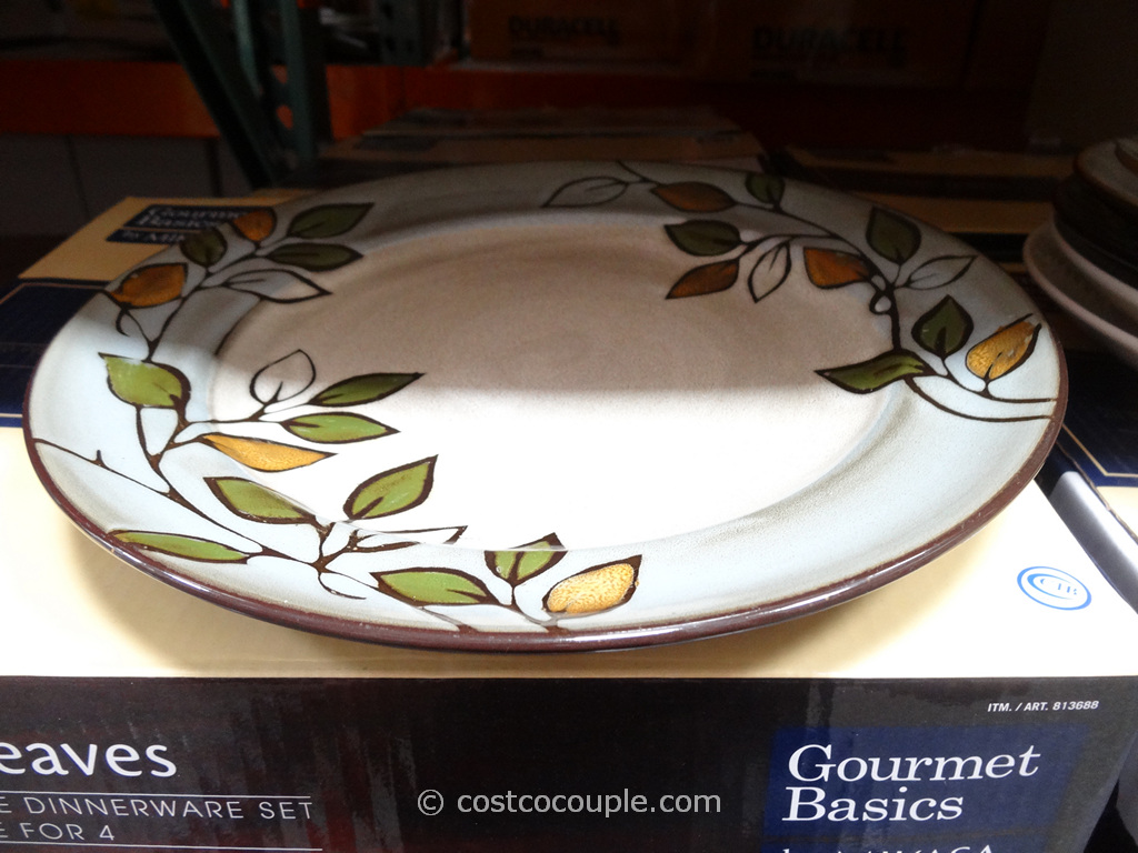Mikasa Rustic Leaves Dinnerware Set Costco 1
