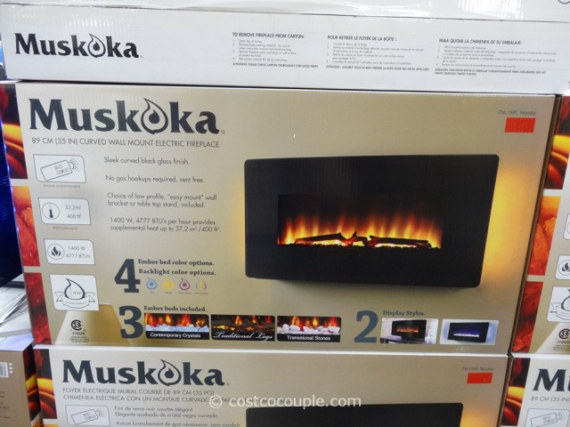 Muskoka Curved Wall Mount Electric Fireplace