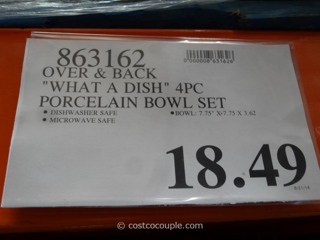 Over And Back WhataDish Porcelain Bowl Set Costco