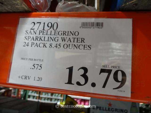 San Pellegrino Sparkling Mineral Water 24-Pack Costco 1
