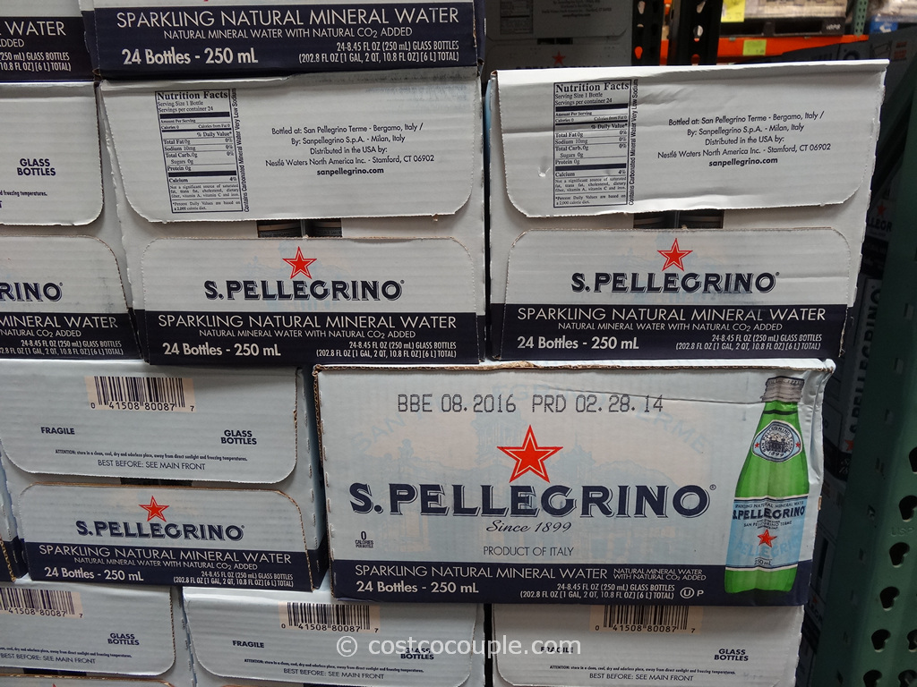 San Pellegrino Sparkling Mineral Water 24-Pack Costco 3