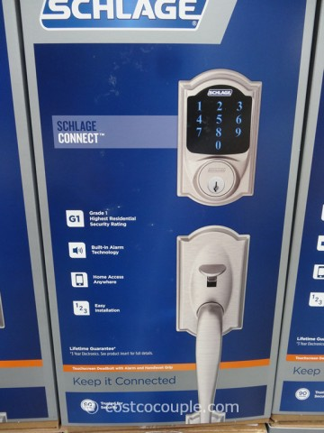 Schlage Lock Company Touchscreen Deadbolt Costco 4