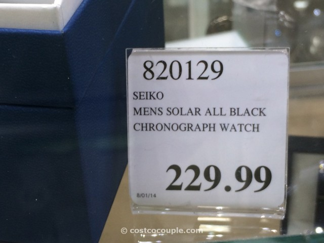 Seiko Mens Solar All Black Chronograph Costco 2