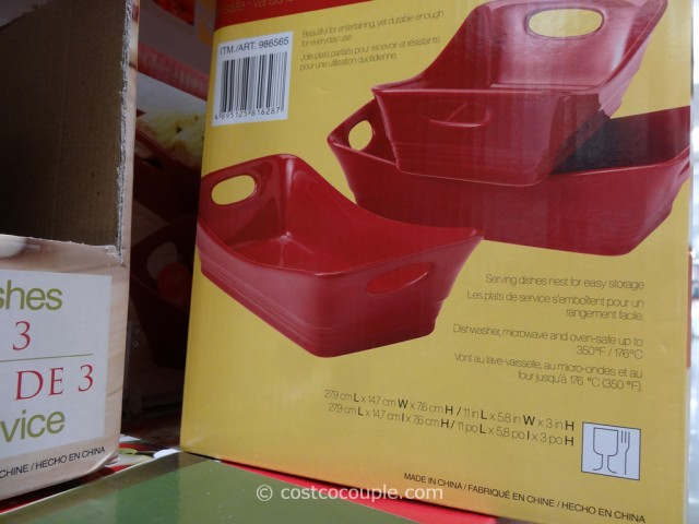 Stoneware Serving Dish Set Costco 1