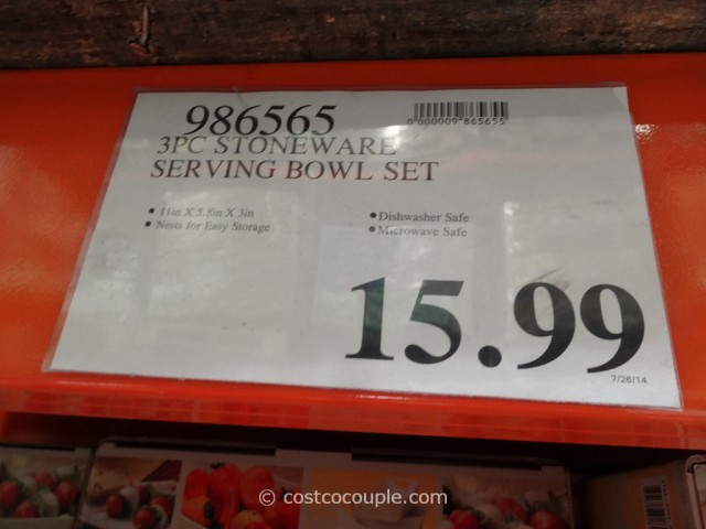 Stoneware Serving Dish Set Costco 2