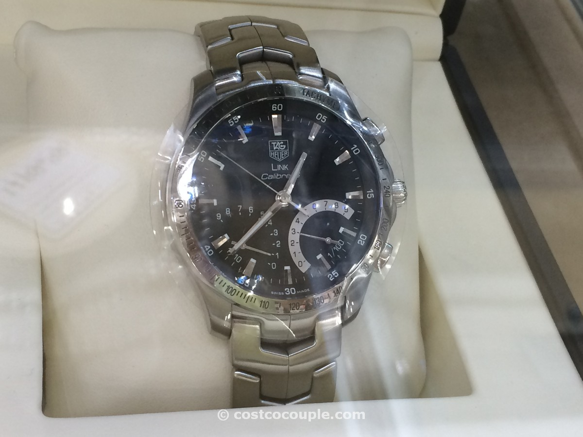 Tag Heuer Link Black Dial Chronograph Costco 1