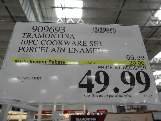Tramontina 10-Piece Cookware Set Costco 1
