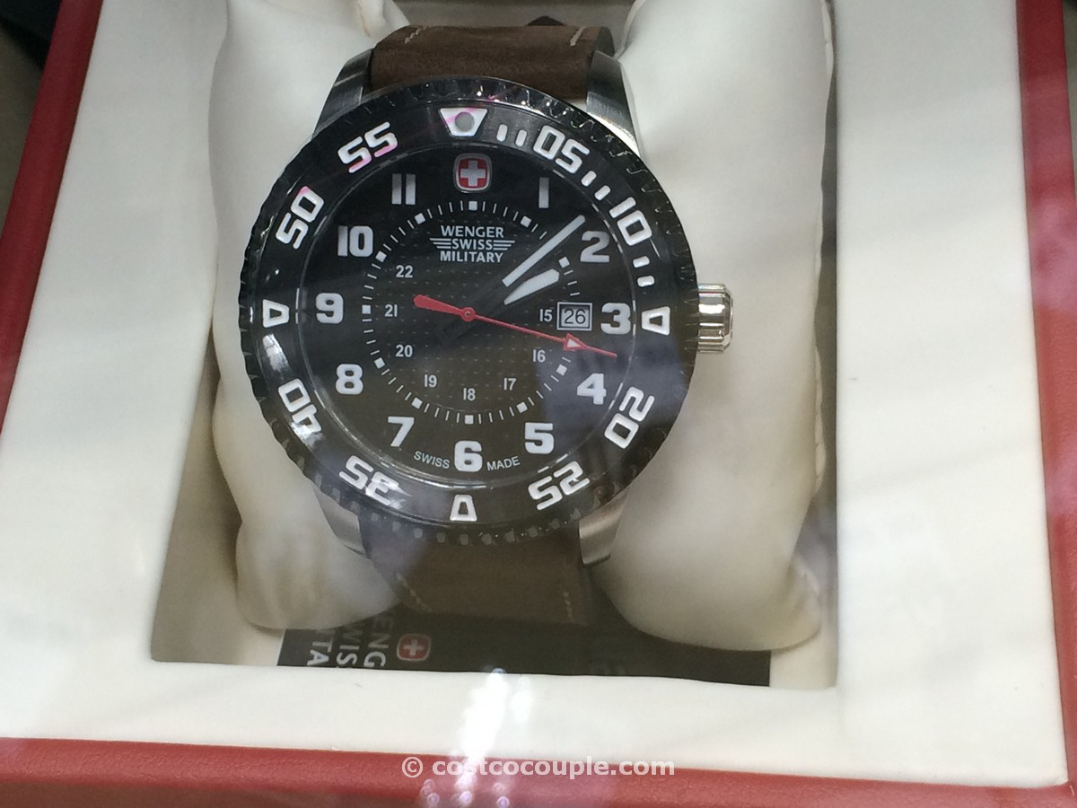 Wenger Swiss Military Stainless Steel Leather Costco 1