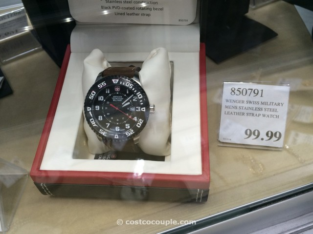 Wenger Swiss Military Stainless Steel Leather Costco 2