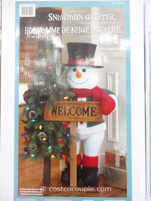 40-Inch Fabric Snowman Greeter Costco 1
