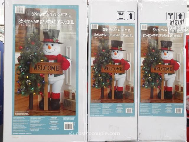40-Inch Fabric Snowman Greeter Costco 3