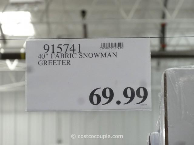 40-Inch Fabric Snowman Greeter Costco 4