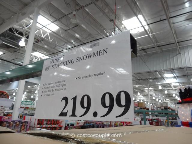 60-Inch Stacking Snowmen Costco 1