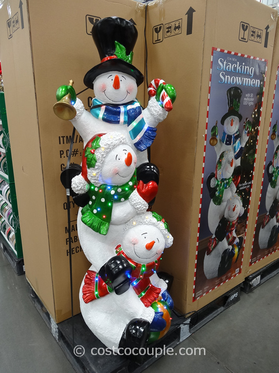 60-Inch Stacking Snowmen Costco 2