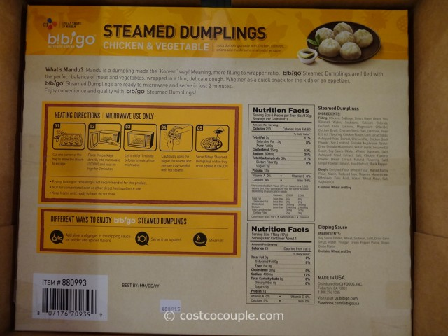 Bibigo Steamed Dumplings Costco 2