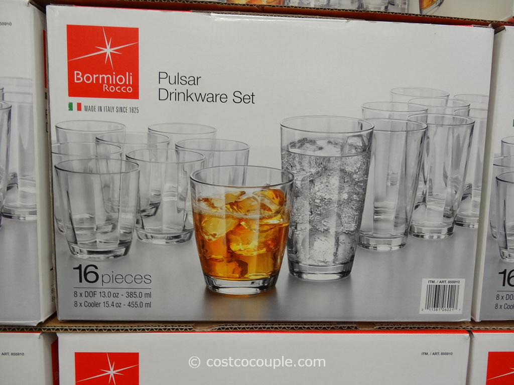 Bormioli Rocco Pulsar Drinkware Set Costco 2