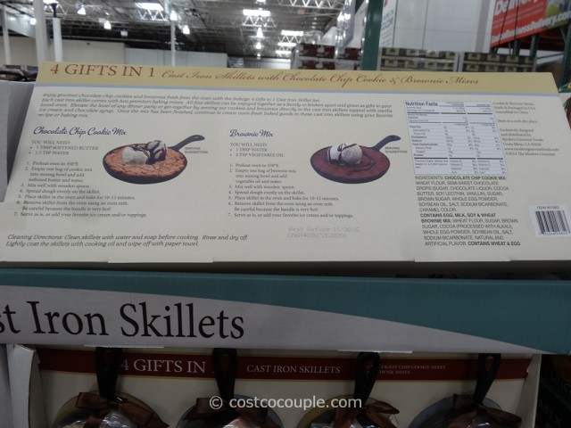 Cast Iron Skillet Cookie and Brownie Set Costco 2