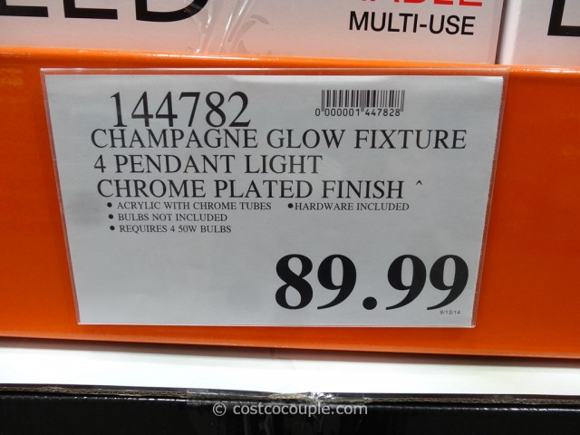 Bathroom Light Fixtures Costco ampere champagne glow lighting fixture