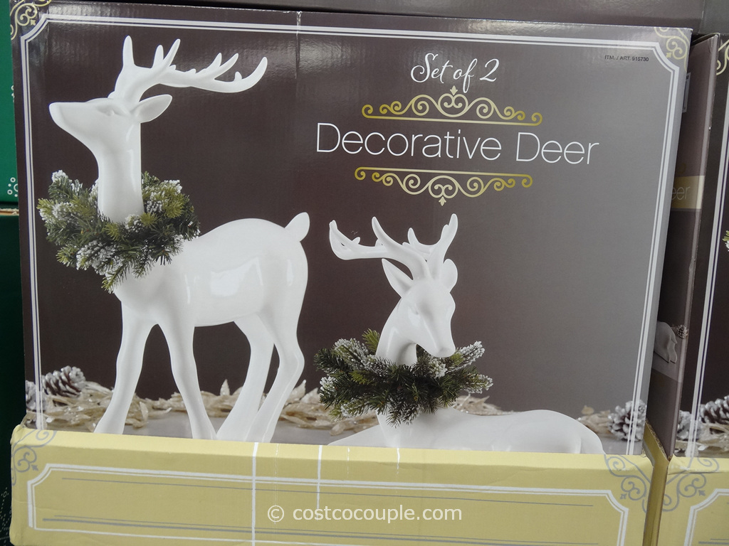 Decorative Deer Set Costco 1