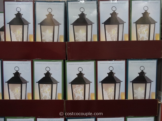 Decorative Lantern with LED Candle Costco 1