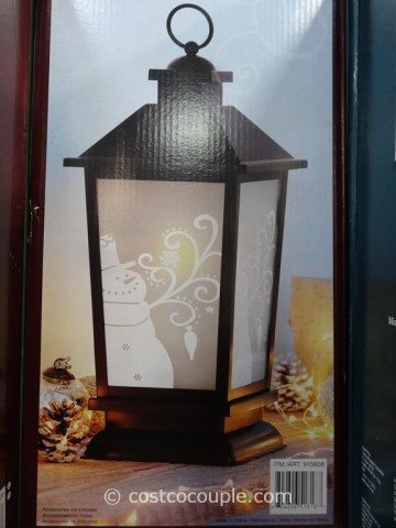 Decorative Lantern with LED Candle Costco 3