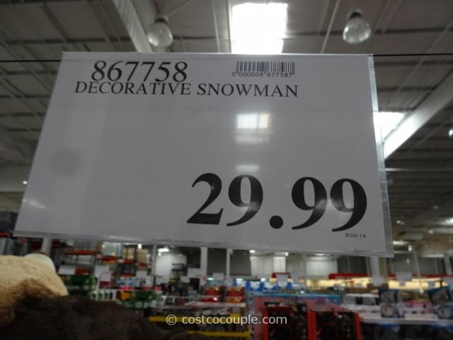 Decorative Snowman Costco 1