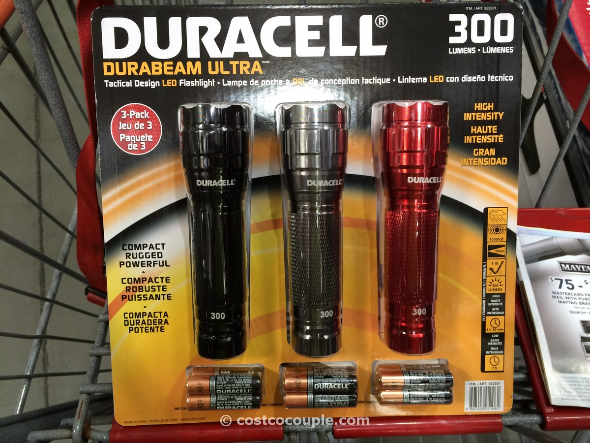 Duracell 3 pack LED Flashlights Costco 2