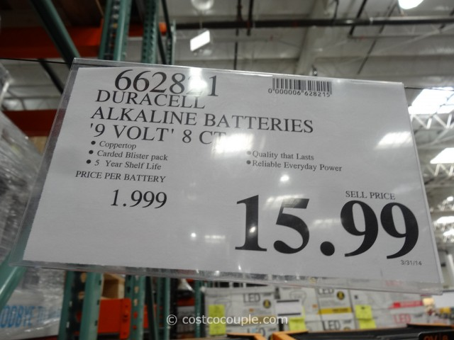 Duracell 9-Volt Alkaline Batteries Costco 1