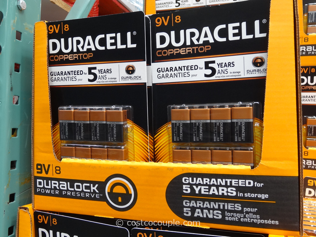 Duracell 9-Volt Alkaline Batteries Costco 2