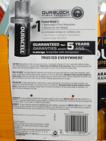 Duracell 9-Volt Alkaline Batteries Costco 3
