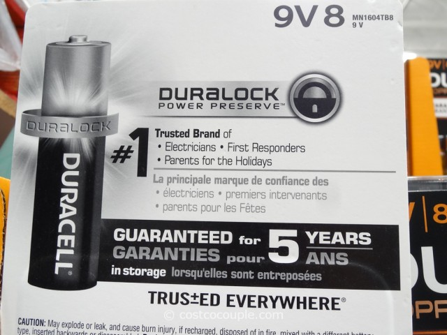 Duracell 9-Volt Alkaline Batteries Costco 4