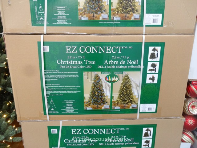 Ez Connect 7 5ft Prelit Led Christmas Tree