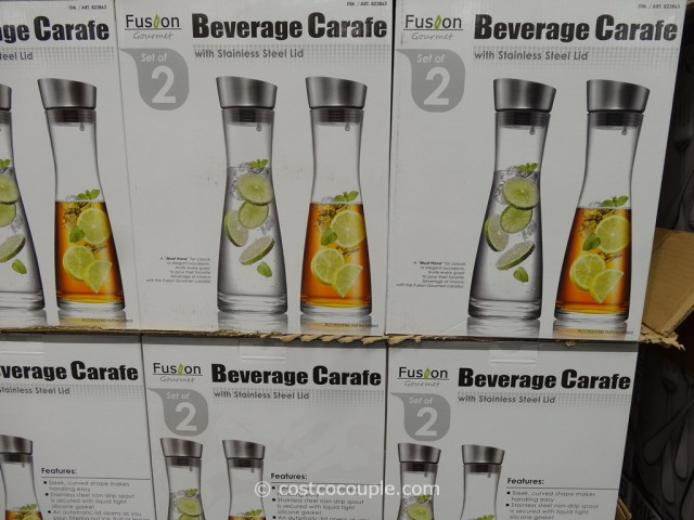 Fusion Gourmet Beverage Glass Carafe Costco 3