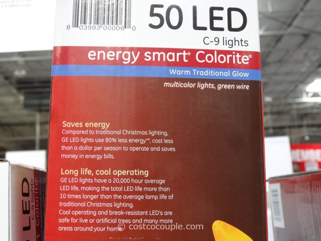 GE Energy 50 LED Smart Colorite C9 Lights Costco 3