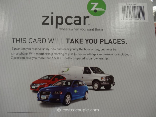 Gift Cards ZipCar Costco 4