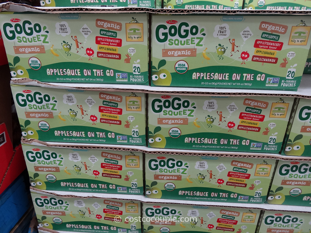 Gogo Squeez Organic Applesauce Variety Pack Costco 2