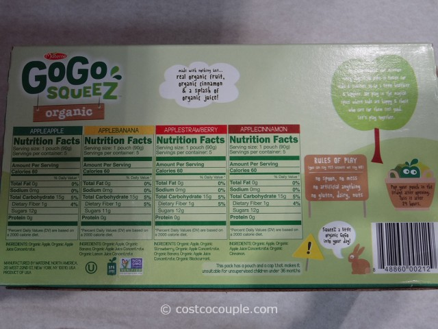 Gogo Squeez Organic Applesauce Variety Pack Costco 3