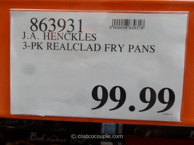 JA Henckles 3-Piece RealClad Fry Pans Costco 1
