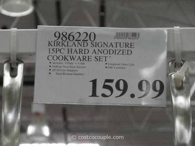 Kirkland Signature 15-Piece Hard Anodized Cookware Set Costco 1