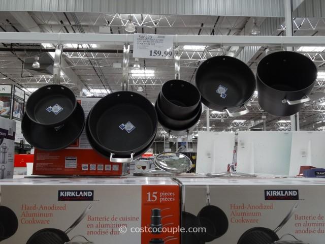 Kirkland Signature 15-Piece Hard Anodized Cookware Set Costco 2